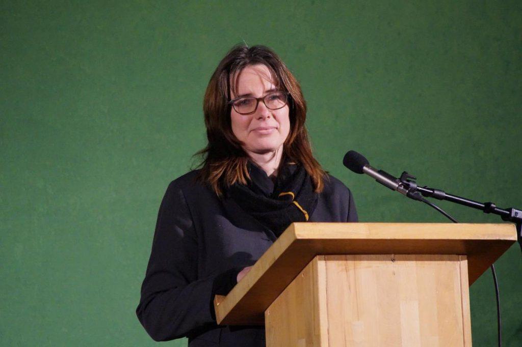 Melanie Ranft am Mikro